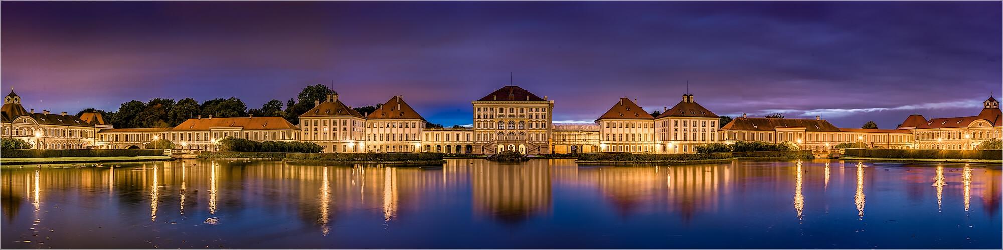Panoramabild München Nymphenburger Schloss