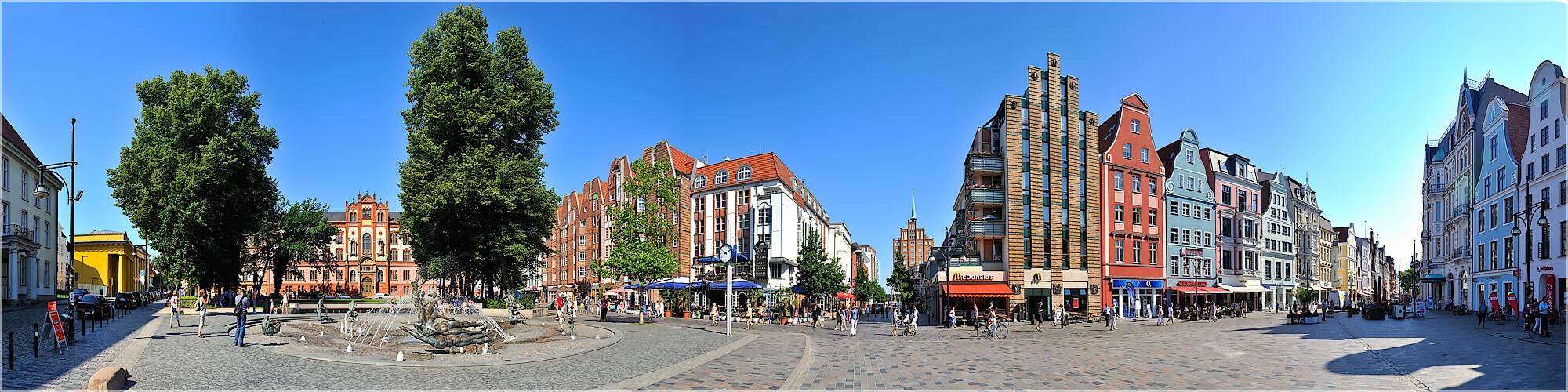 Panoramabild Rostock Universitätsplatz