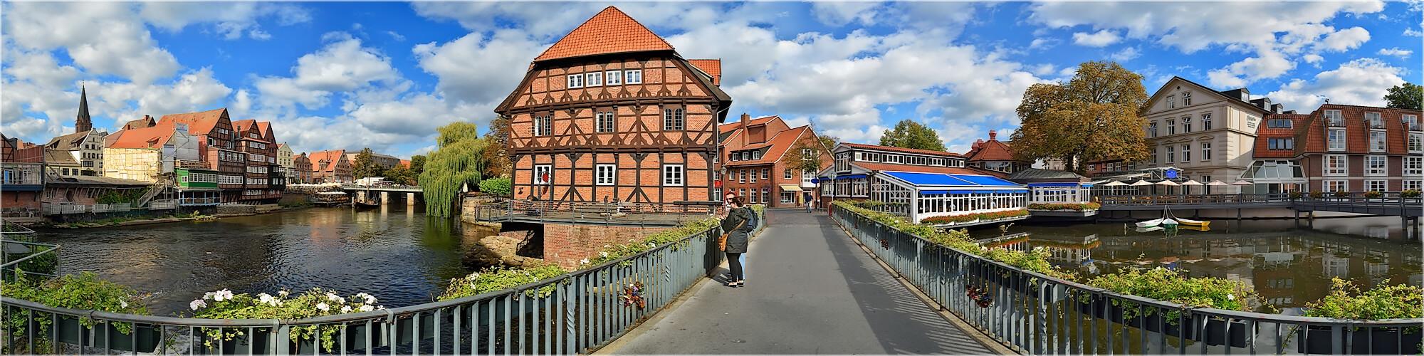 Panoramabild Lüneburg im Wasserviertel
