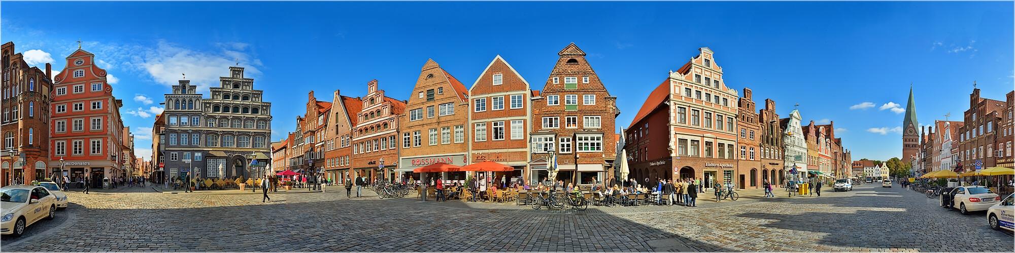 Panoramabild Lüneburg am Marktplatz