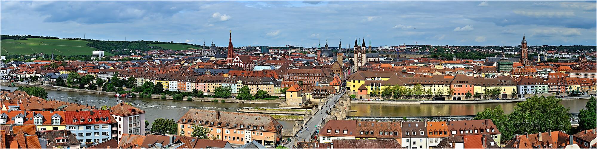 Panoramabild Würzburger Skyline