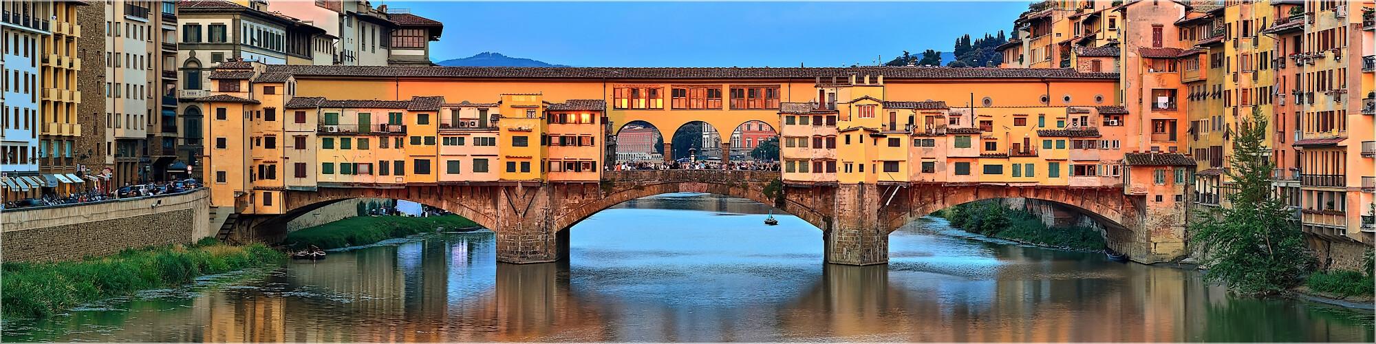 Panoramabild Florenz Ponte Vecchio Brücke