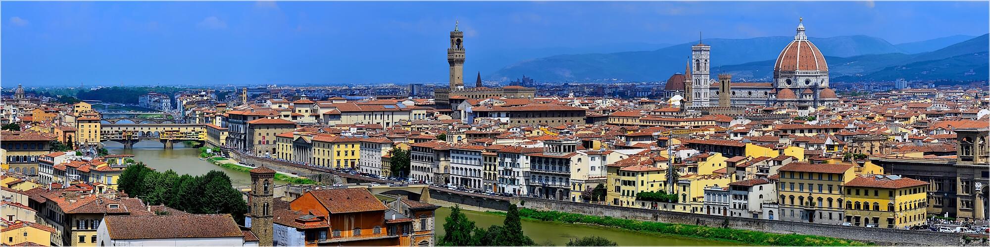 Panoramabild Skyline von Florenz Italien