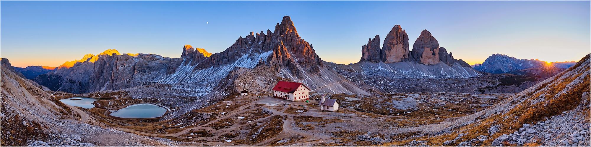 Panoramabild Drei Zinnen Dolomiten