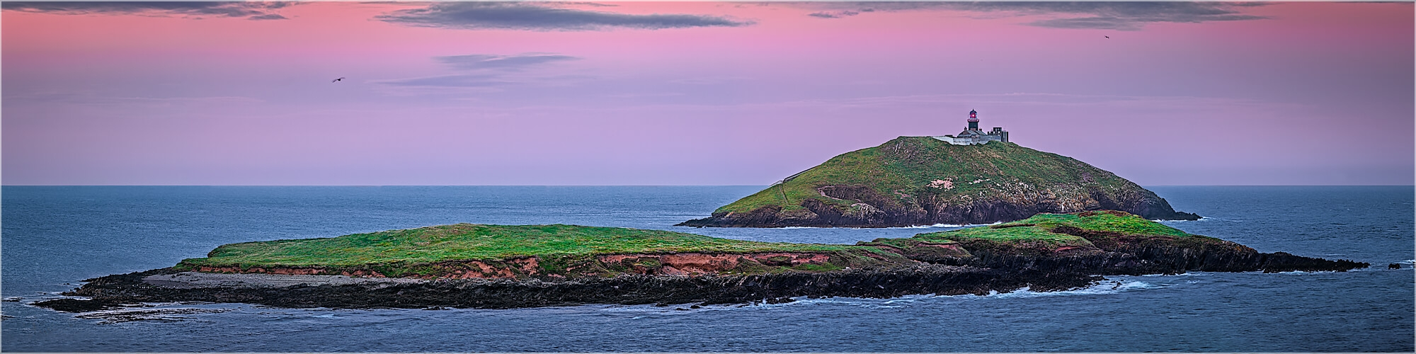 Panoramabild Leuchtturm von Ballycotton Irland