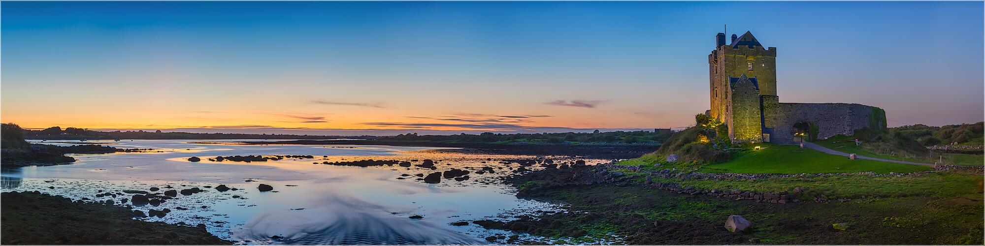 Panoramabild Dunguaire Castle Kinvarra Irland