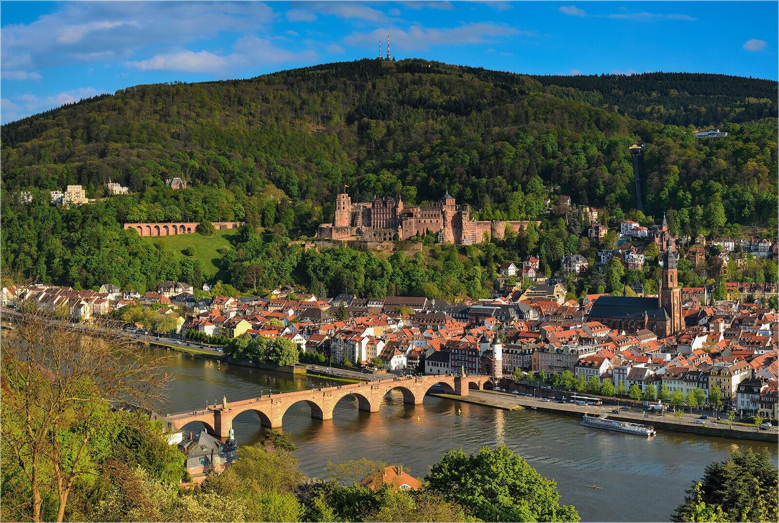 Wandbild Heidelberg Philosophenweg