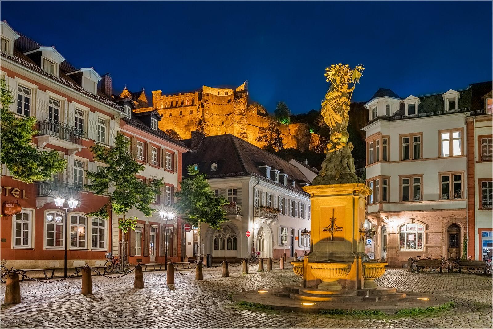 Wanddeko Heidelberg am Kornmarkt