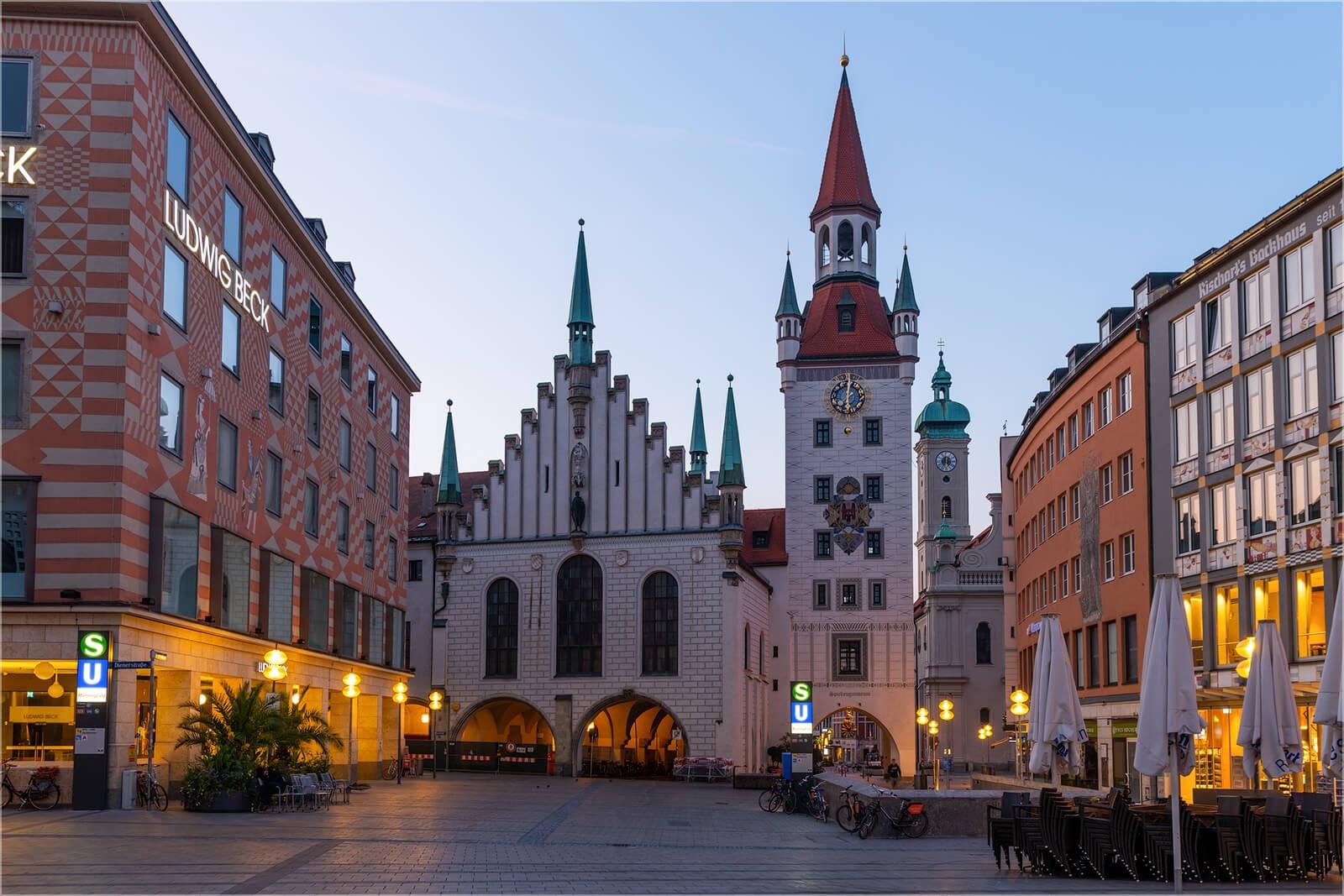 Wanddeko München altes Rathaus