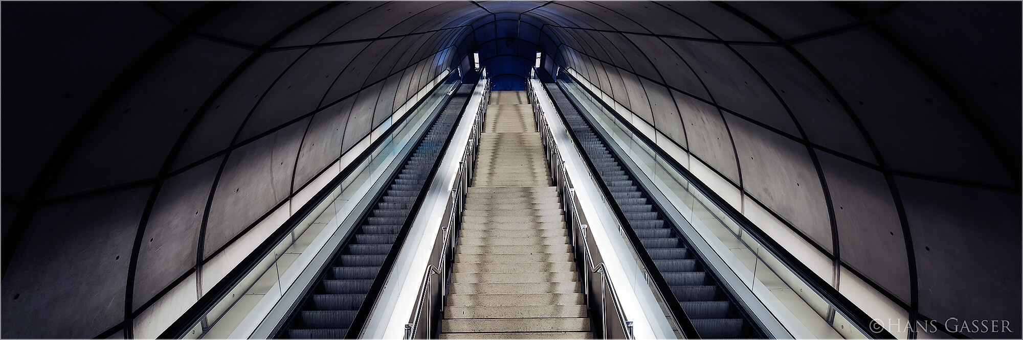 Panoramafoto Metro von Bilbao Spanien