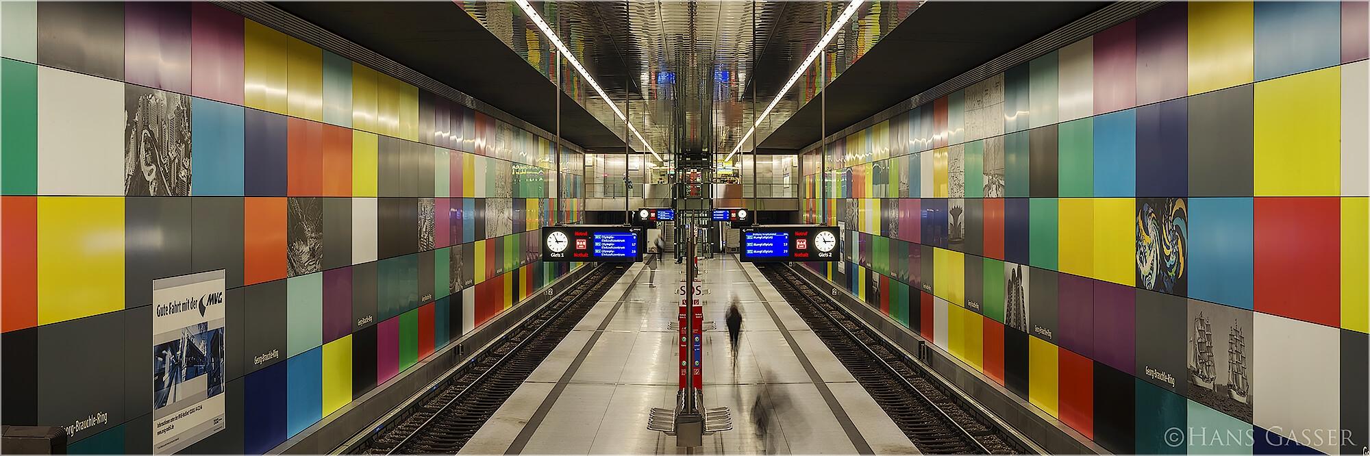 Panoramabild U-Bahn München Georg Brauchle Ring