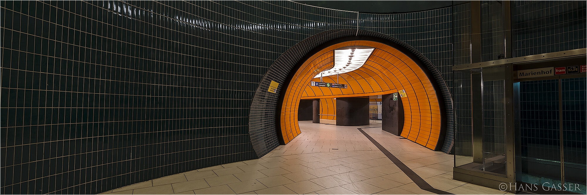 Panoramabild U-Bahn Sation Marienplatz München