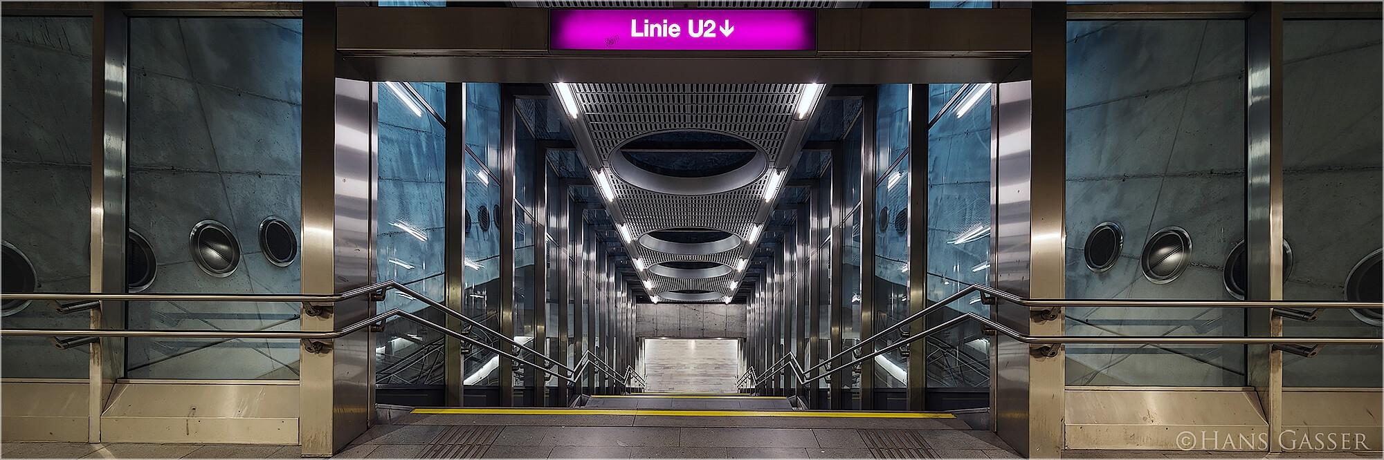 Panoramabild U-Bahn Sation Praterstern Wien