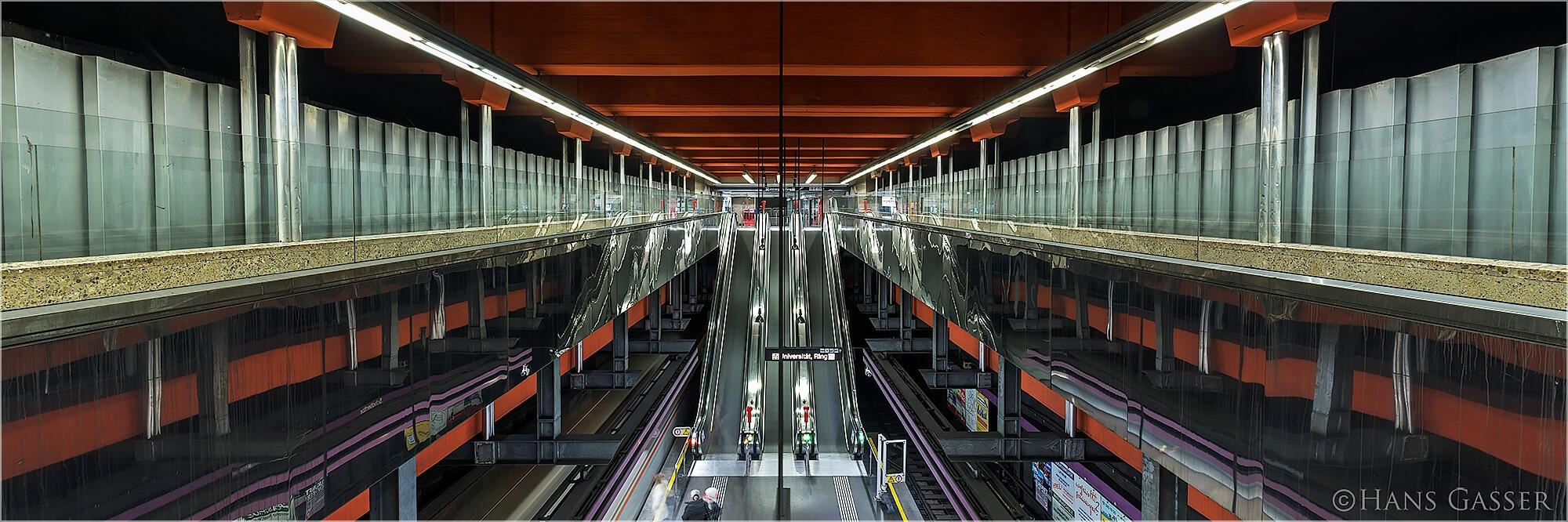 Panoramabild Wiener U-Bahn Station Schottenring