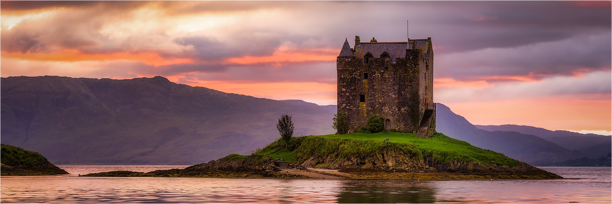 Panoramabild Stalker Castle Higlands Schottland