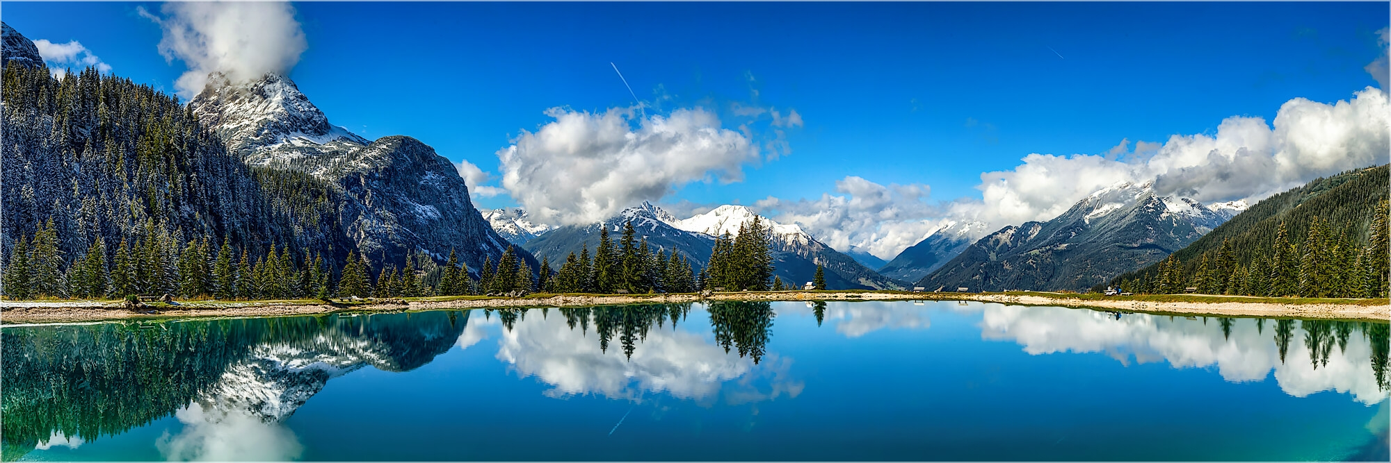 Panoramabild Ehrwalder Almsee Österreich