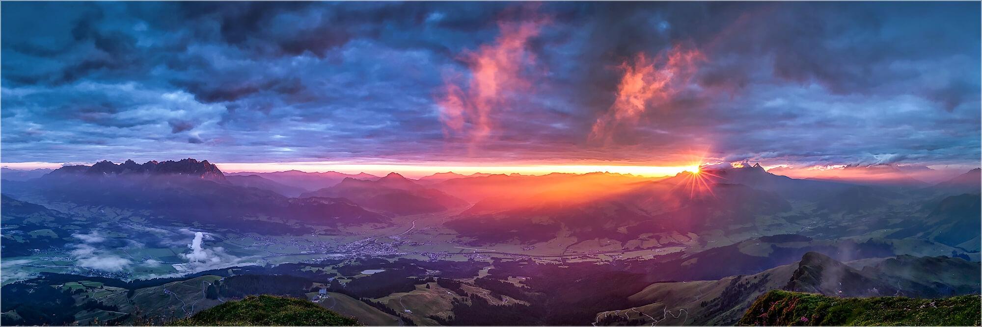 Panoramafoto Tirol Österreich Kitzbühler Horn