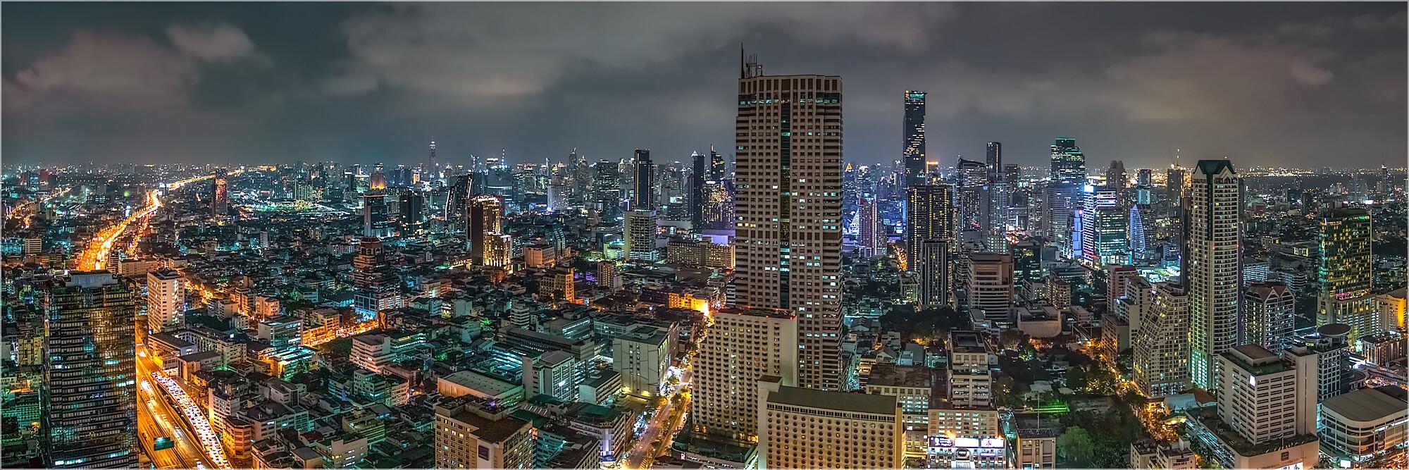 Panoramafoto Urbane Stadtlandschaft Bangkok