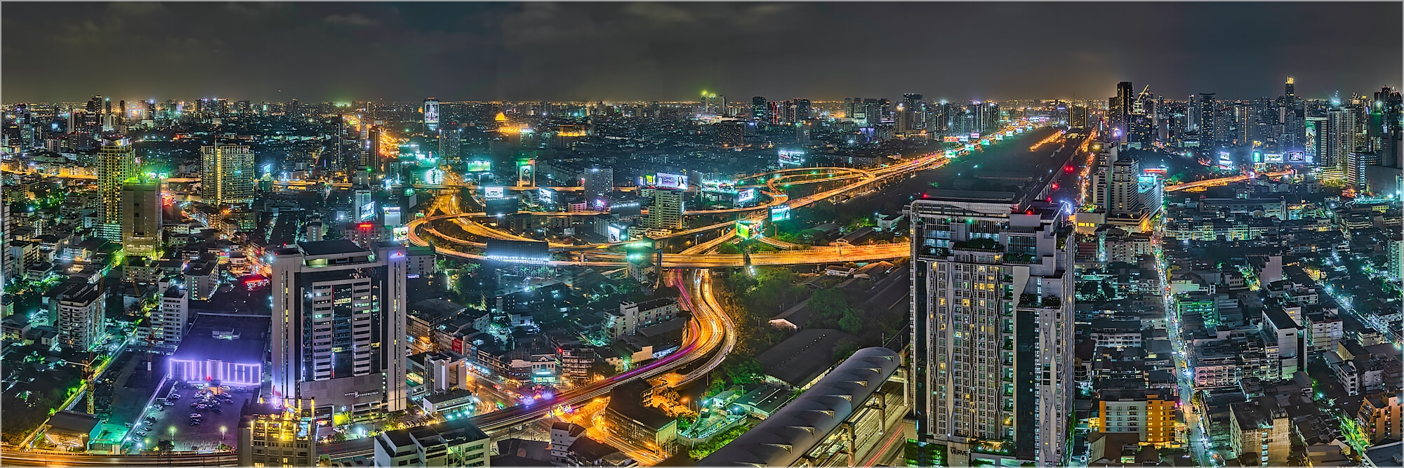 Panoramabild Intersection Bangkok Thailand