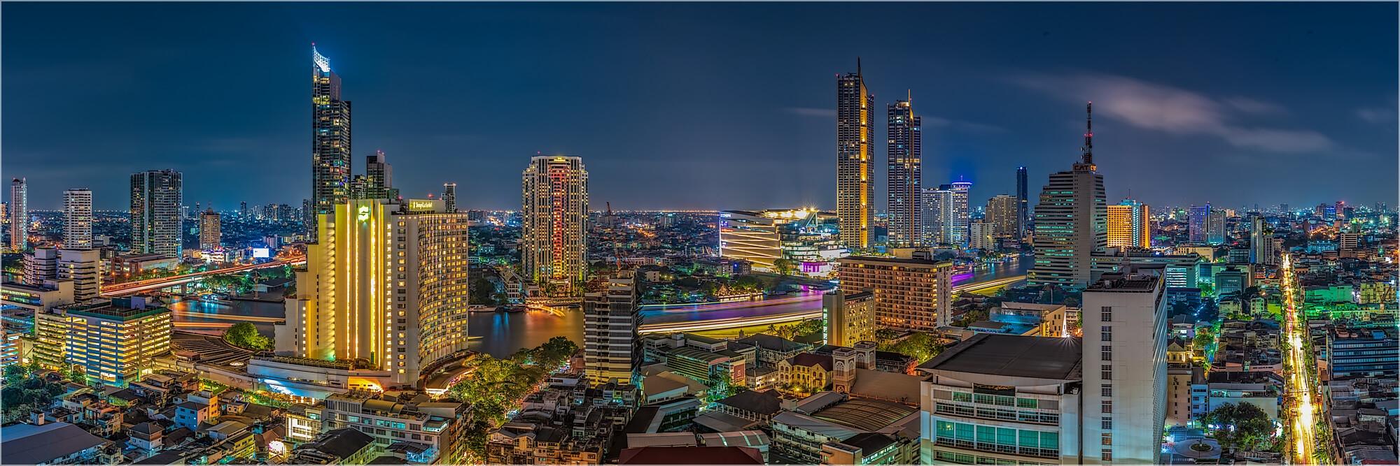 Panoramabild Skyline Bangkok Thailand