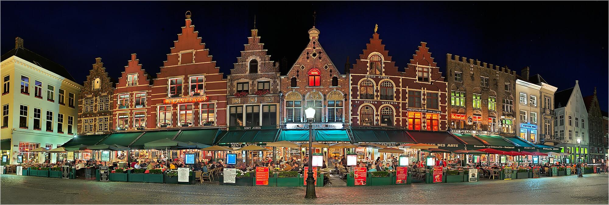 Panoramabild Häuserzeile Gent Belgien