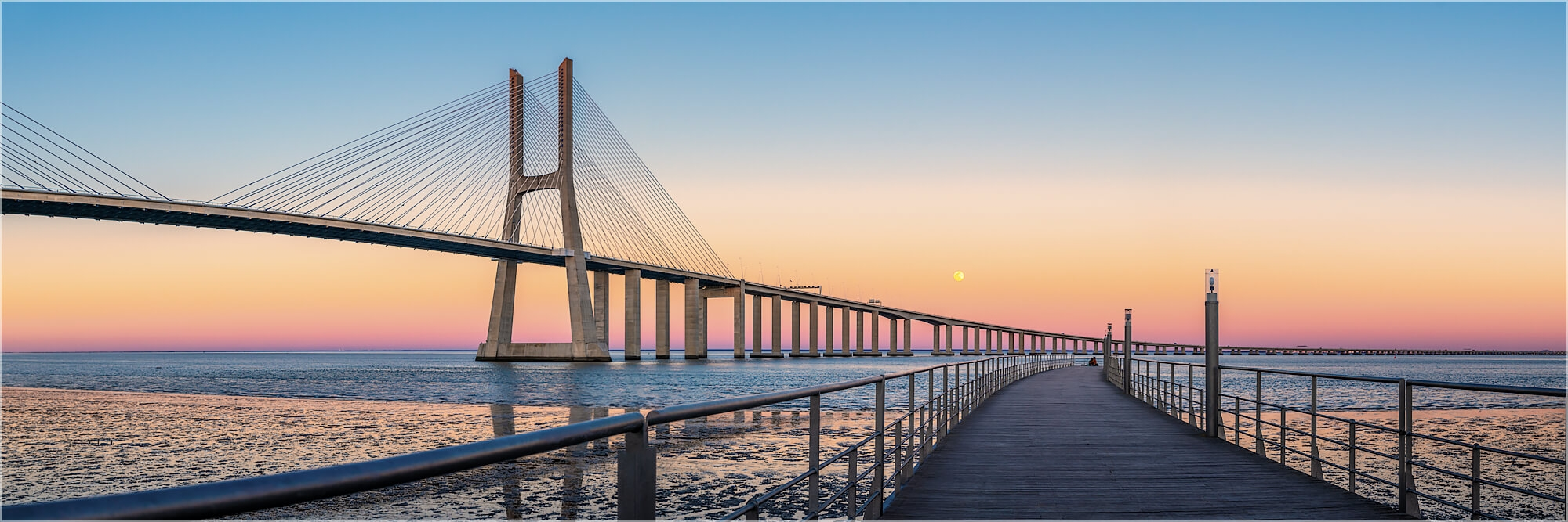 Panoramabild Vasco da Gamma Brücke Lissabon