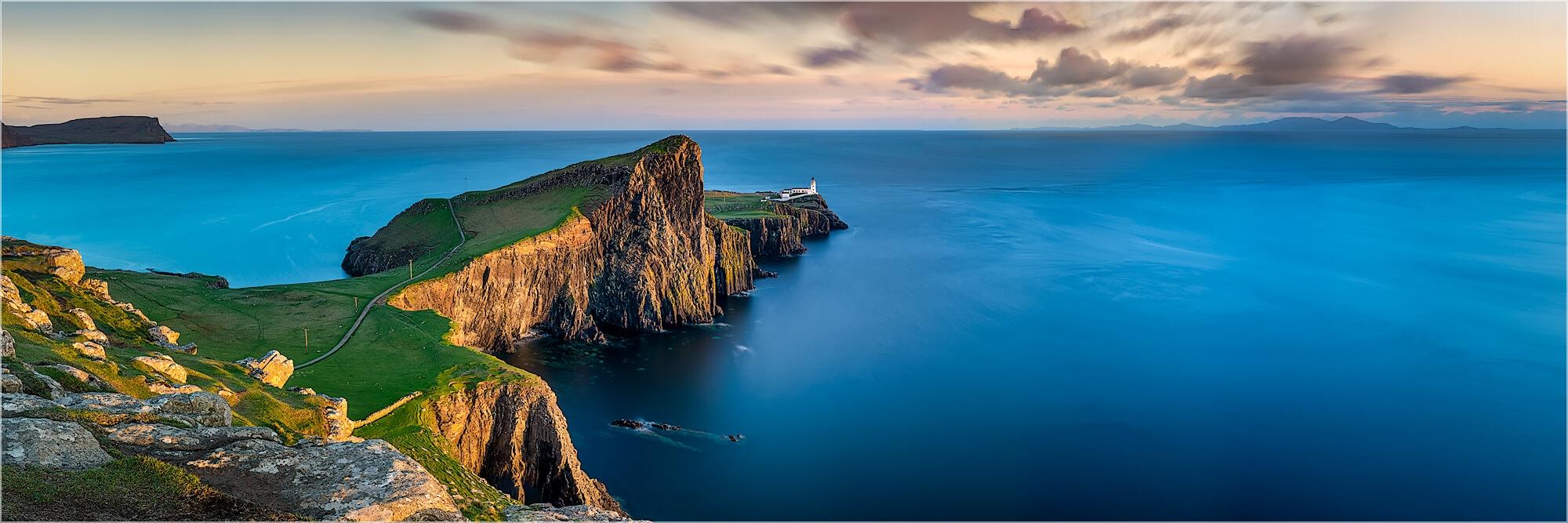 Panoramabild Isle of Skye am Nest Point Leuchtturm