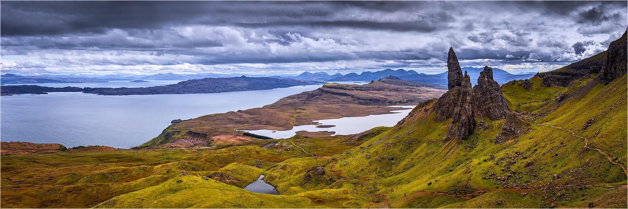 Panoramafoto Old man of Storr Isle of Skye Schottland