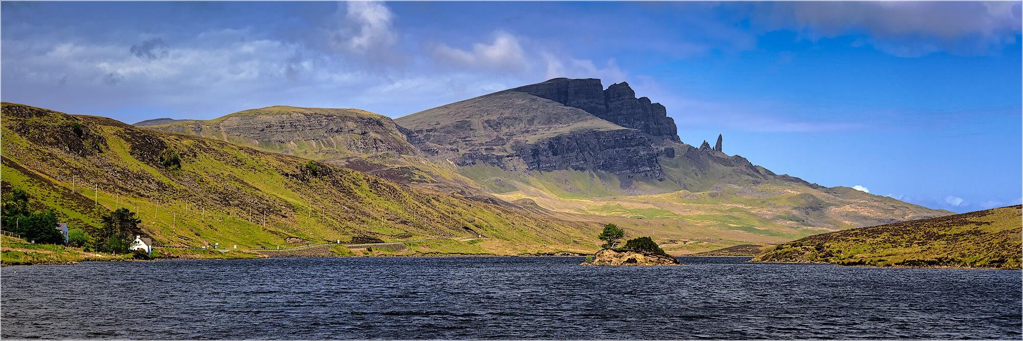 Panoramabild Loch Fado Isle of Skye Schottland