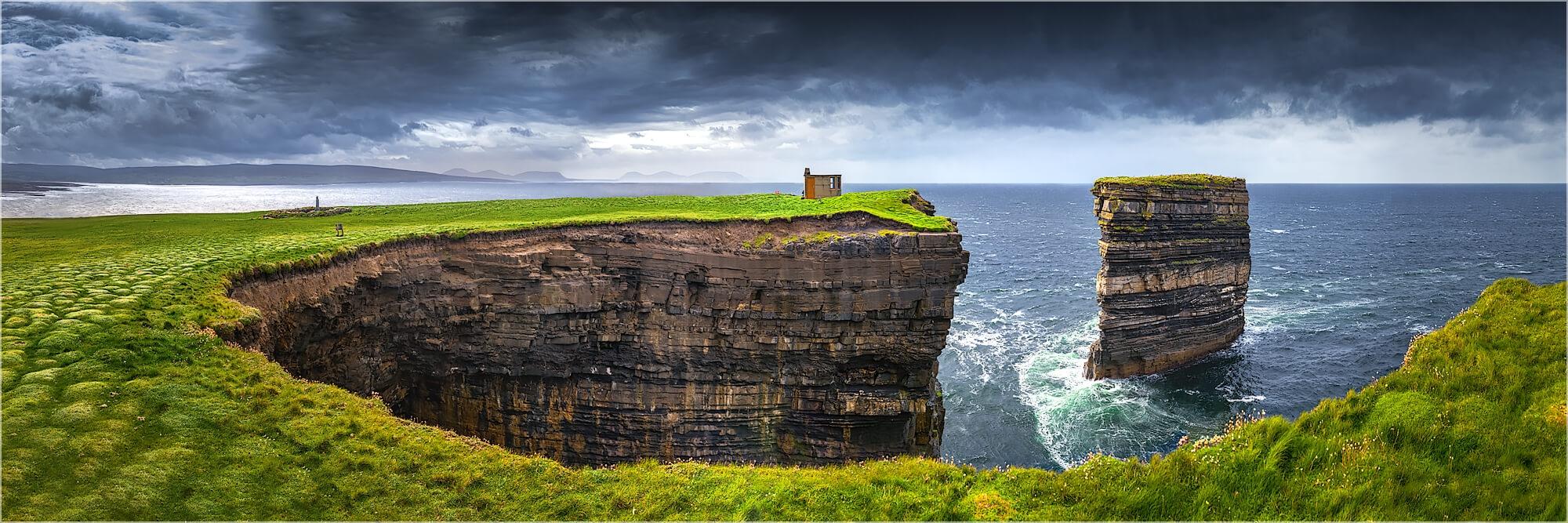 Panoramabild Down Patrick Head Atlantikküste Irland
