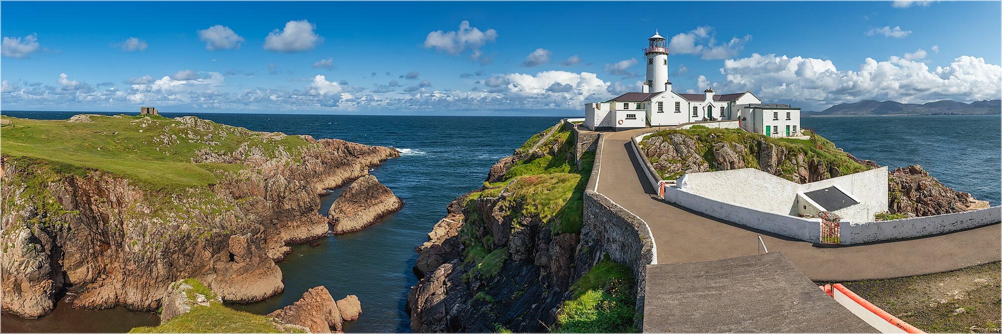 Panoramabild Leuchtturm Fanad Head Donegal Irland