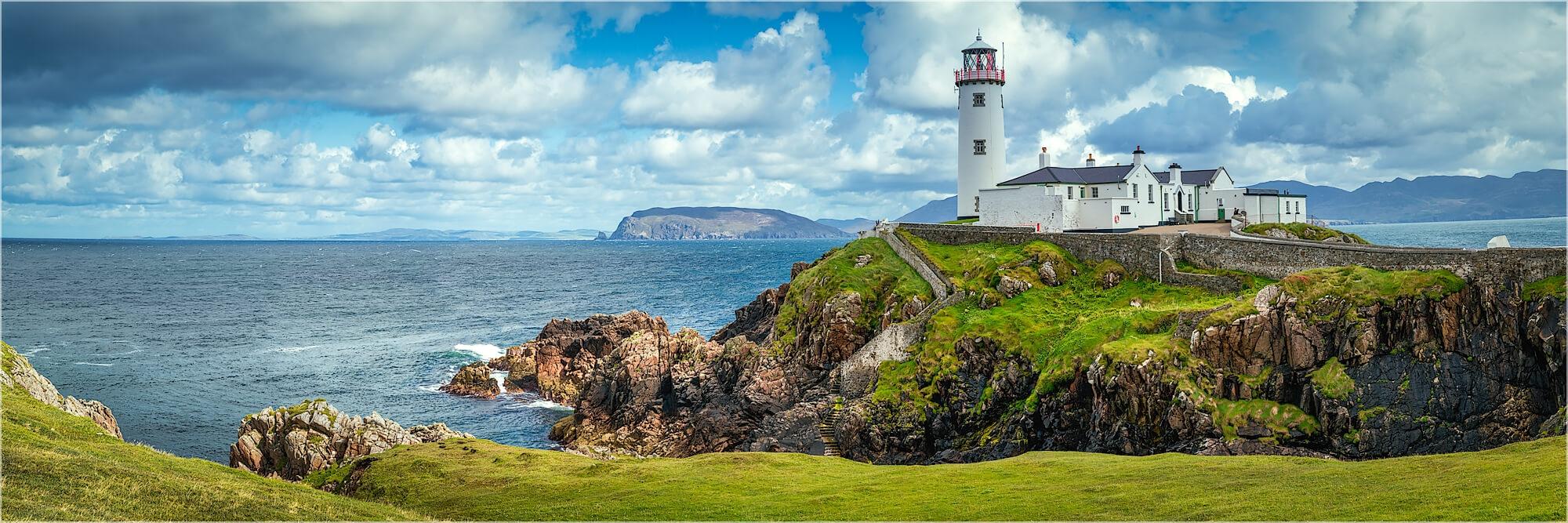 Panoramafoto Leuchtturm am Fanad Head Irland