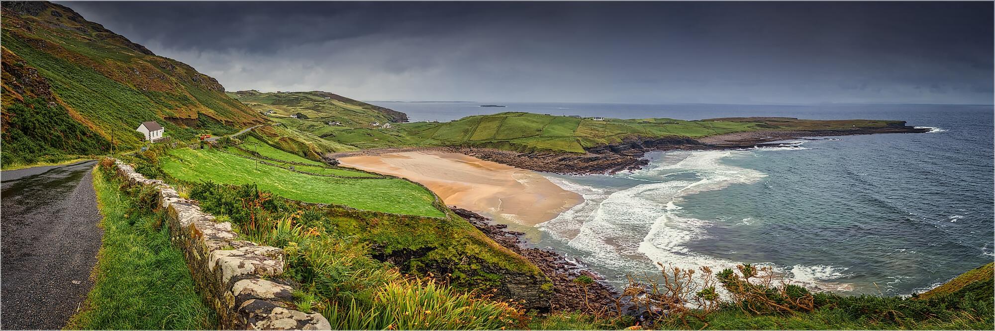 Panoramabild Küstenlandschaft Wild Atlantik Way Irland