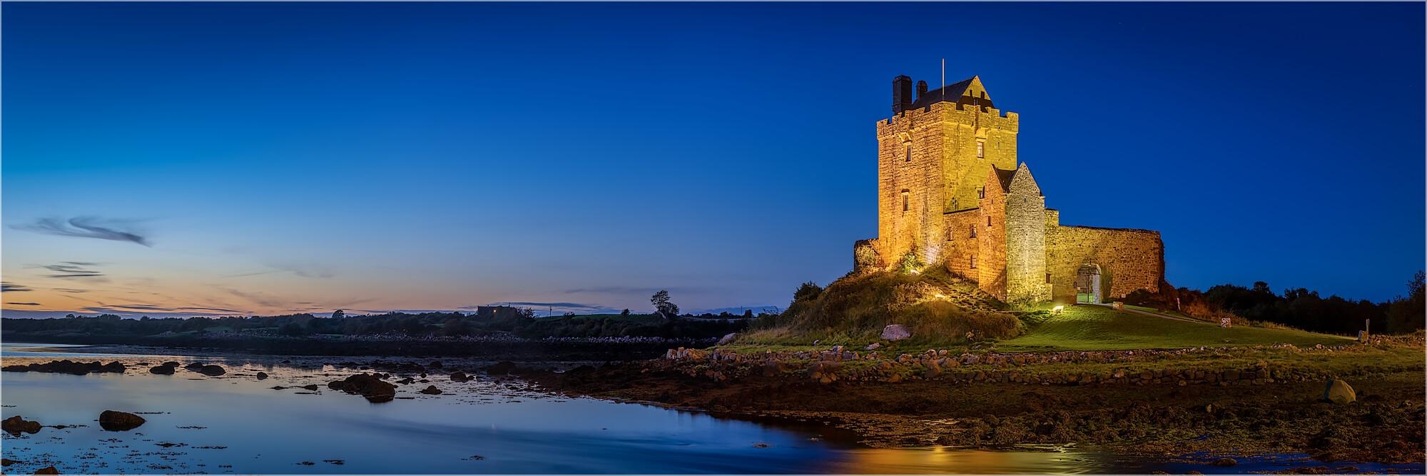 Panoramabild Burg Dunguaire Kinvarra Irland