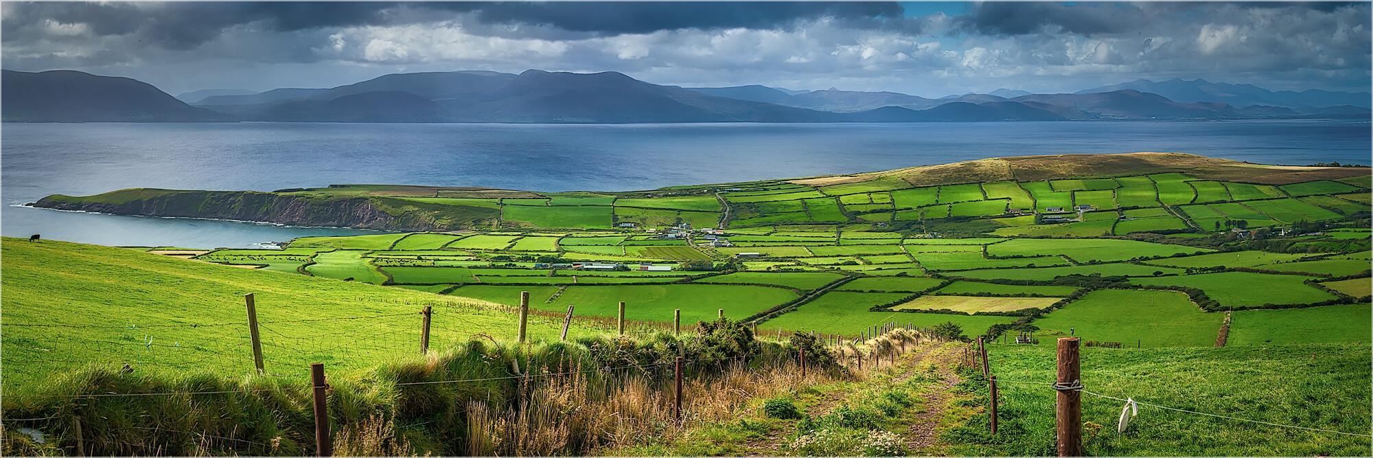 Panoramabild Landschaft von Dingle Kerry Irland