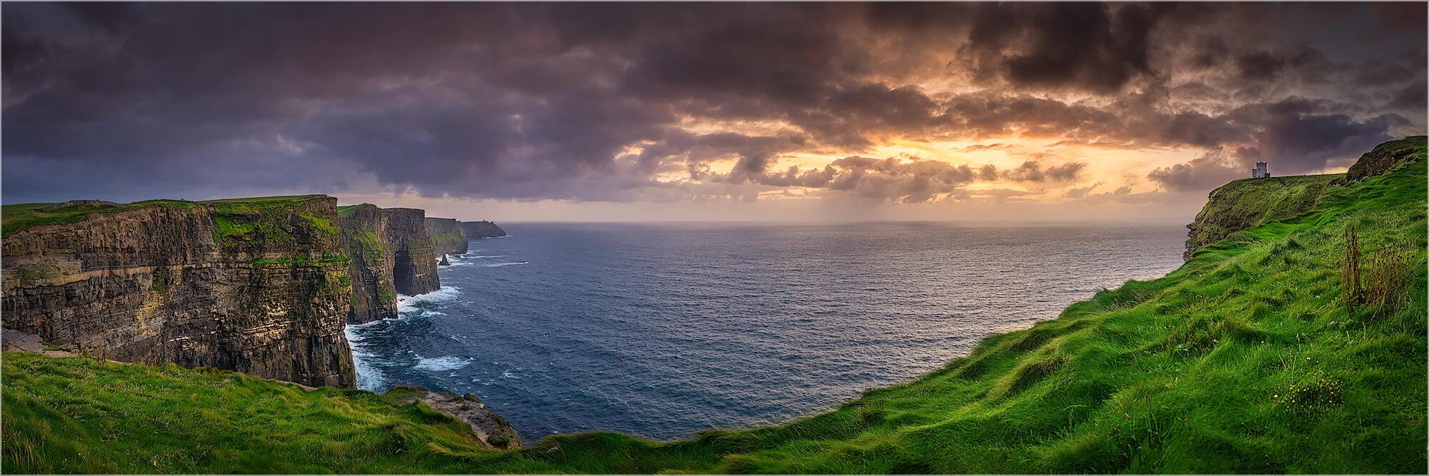 Panoramafoto Irland die Cliffs von Moher