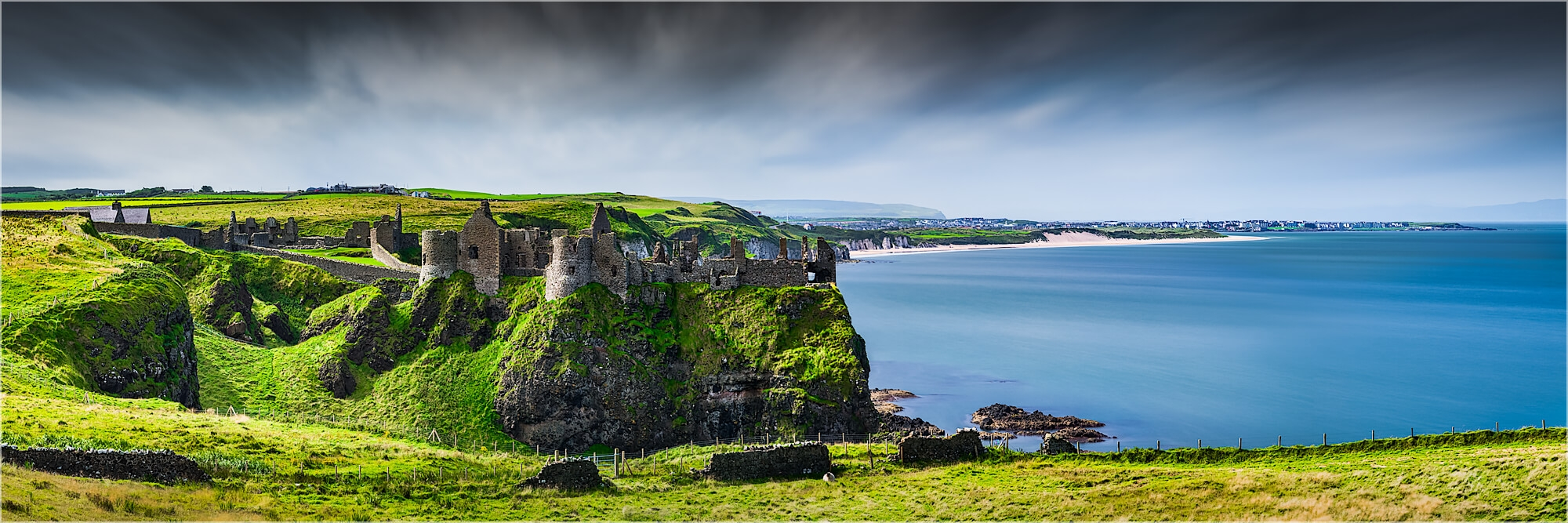 Panoramabild Dunluce Castle Portrush Irland