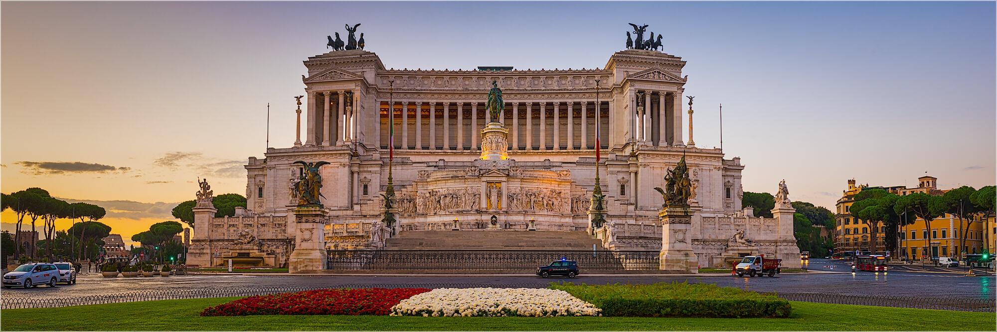 Panoramafoto Parlament Rom Italien