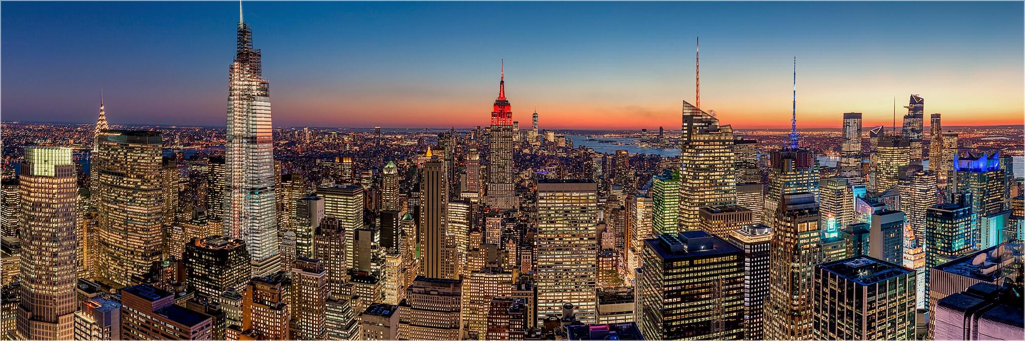 Panoramabild Skyline New York Manhattan