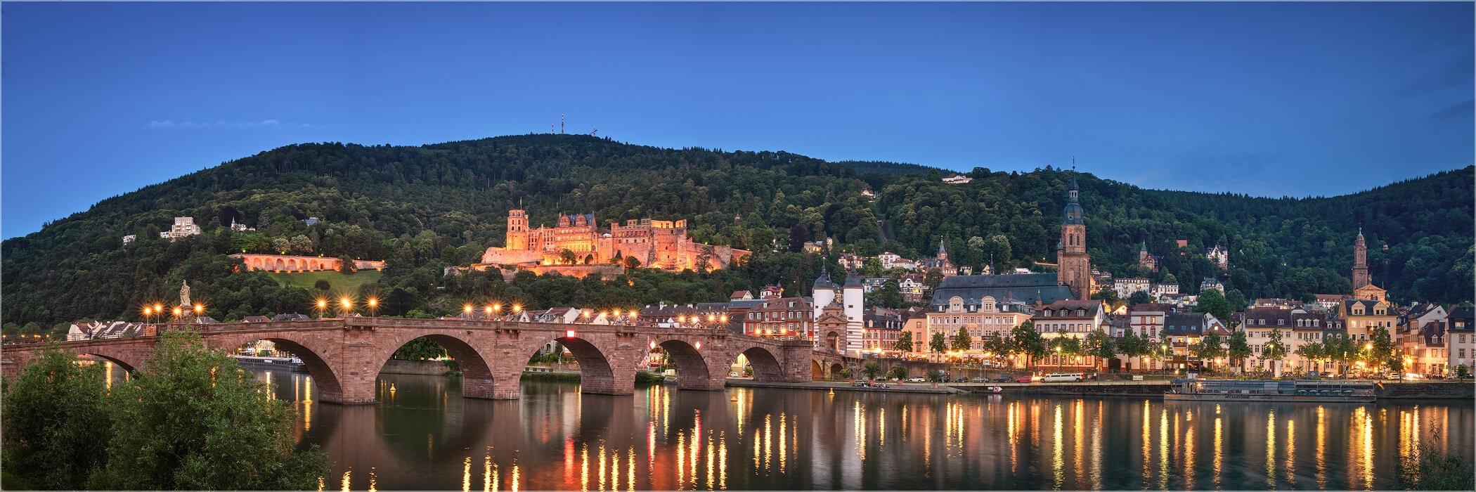 Panoramabild Heidelberg Stadtpanorama