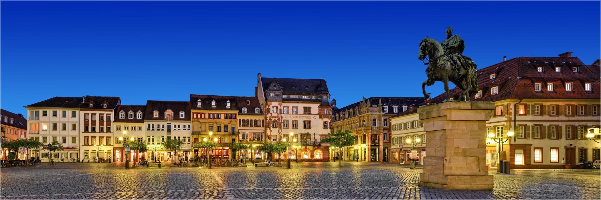 Panoramafoto Landau Marktplatz Pfalz