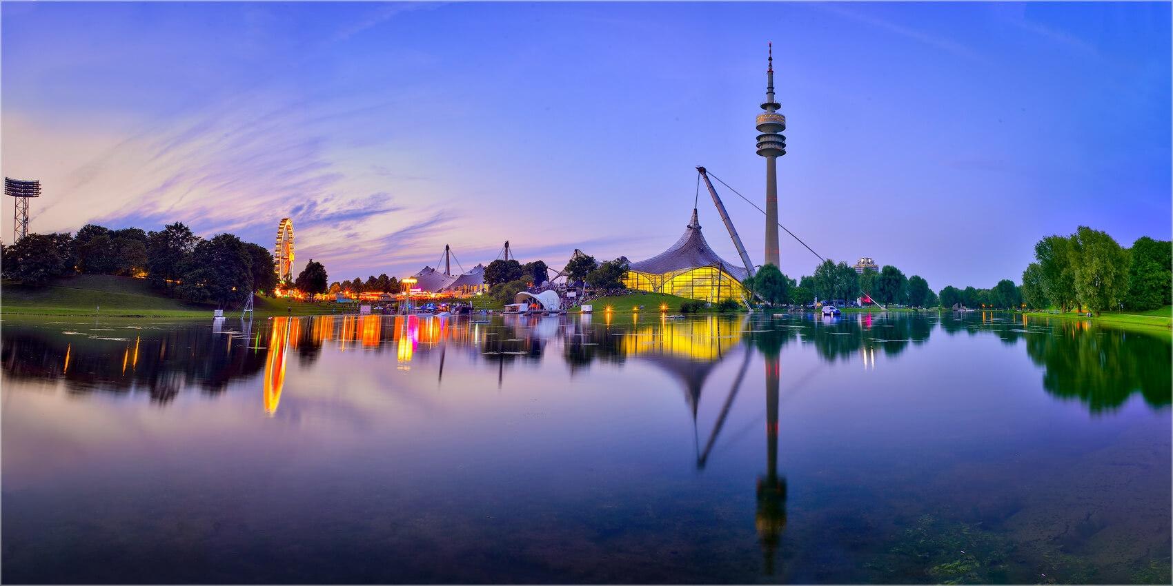 Panoramabild Fernsehturm Olympiapark München