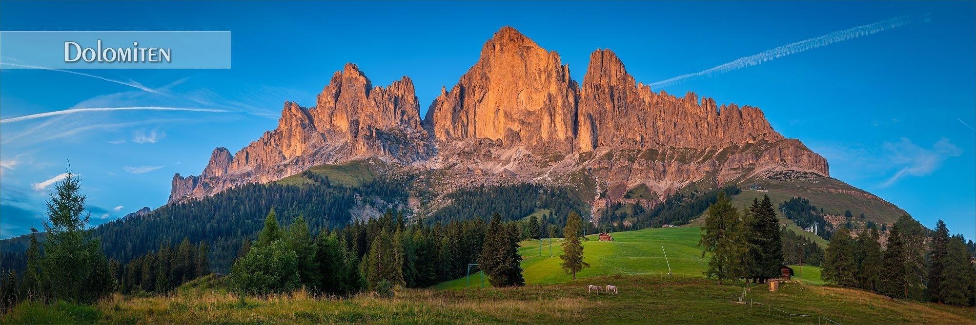 Bilder als Wandbild und Küchenrückwand aus den Dolomiten